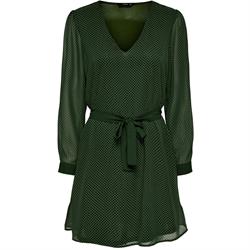abito only scollo a v verde