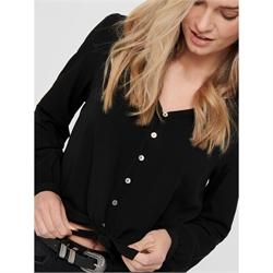 34/% off b17073659 da donna only top camicette Camicia 1//2 braccio a quadri NERO VOLANT