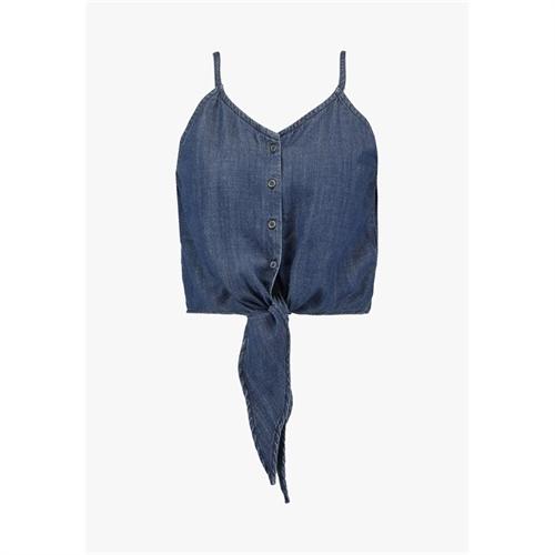 15177549 top in jeans con laccio only