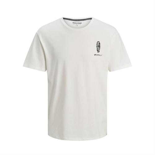 12188974 t-Shirt uomo con stampa jack jones bianco
