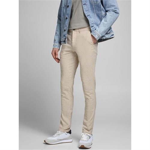 JACK&JONES pantalone lino uomo 12184704 _5