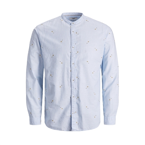12187592 Camicia uomo in lino coreana Jack Jones