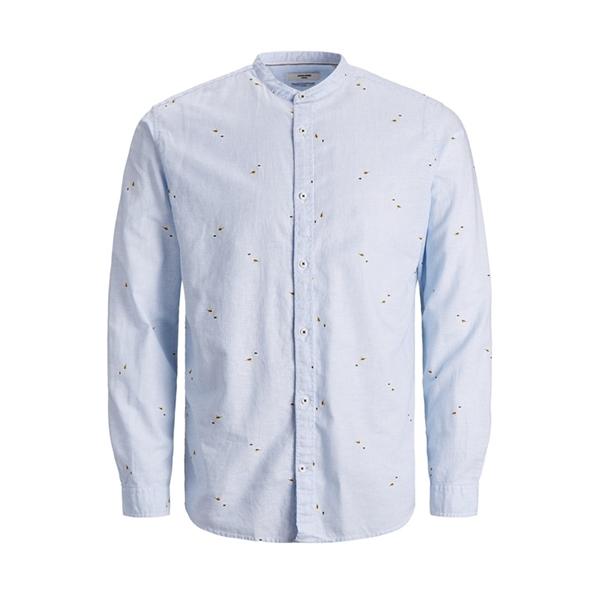 12187592 Camicia uomo in lino coreana Jack Jones