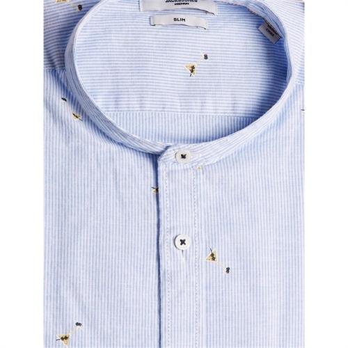 12187592 Camicia uomo in lino coreana Jack Jones 2