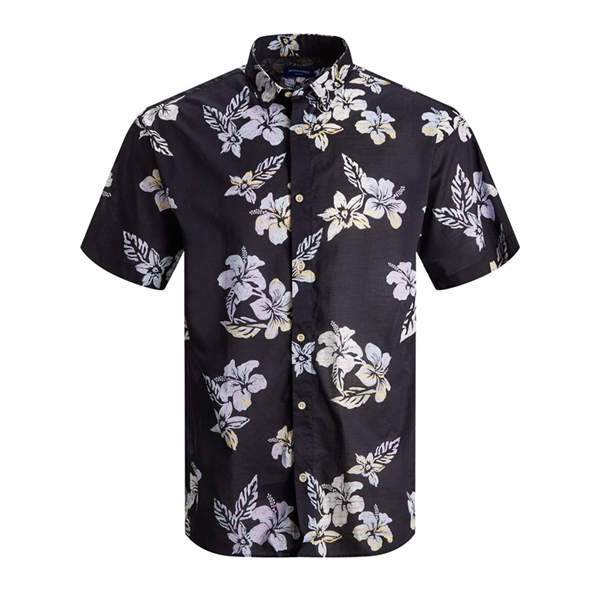 JACK&JONES camicia mezza manica uomo con stampa 2187954 dark navy