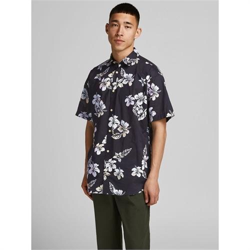 JACK&JONES camicia mezza manica uomo con stampa 2187954 blu 01