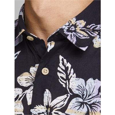 JACK&JONES camicia mezza manica uomo con stampa 2187954 dettagli blu 04