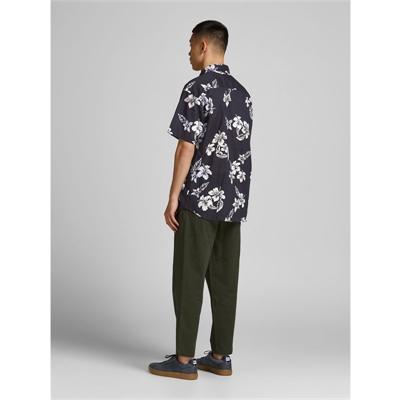 JACK&JONES camicia mezza manica uomo con stampa 2187954 dietro bliu
