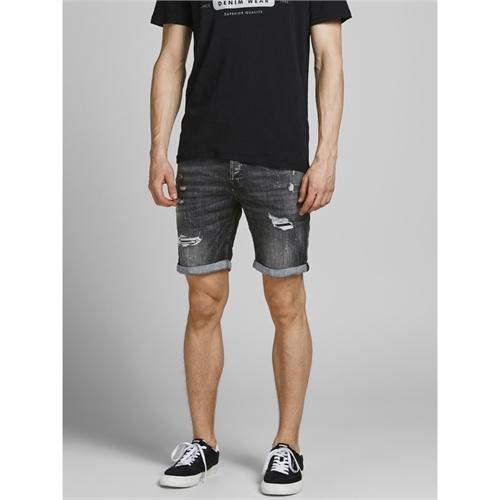 JACK & JONES shorts in  black denim da uomo 12185945_5